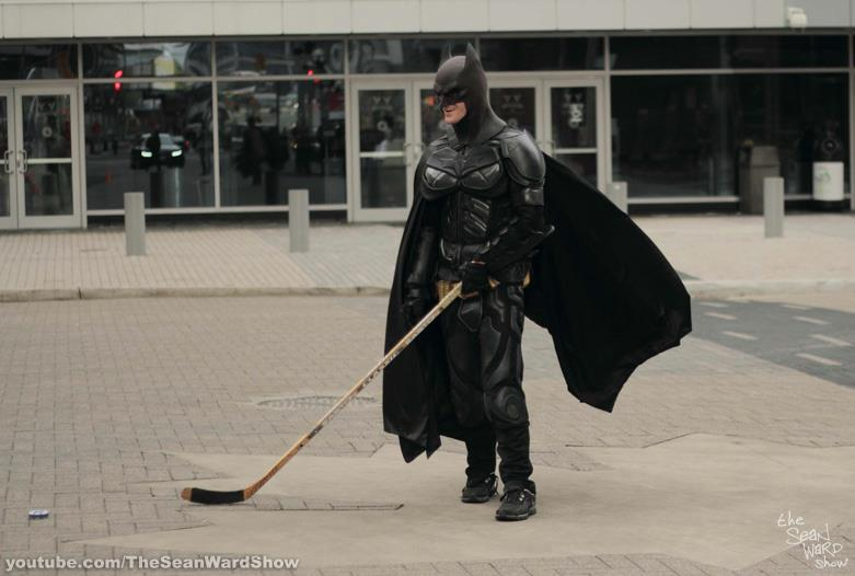 Cosplay Batman at Toronto Superhero Hockey