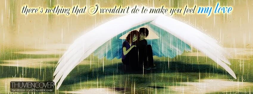 Ảnh bìa che mưa cho nhau