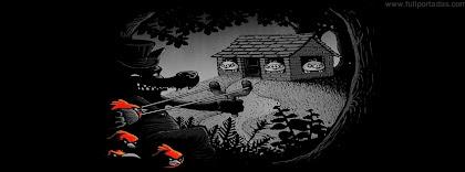 Portada para facebook de Los tres cerditos (Versión Angry Birds)