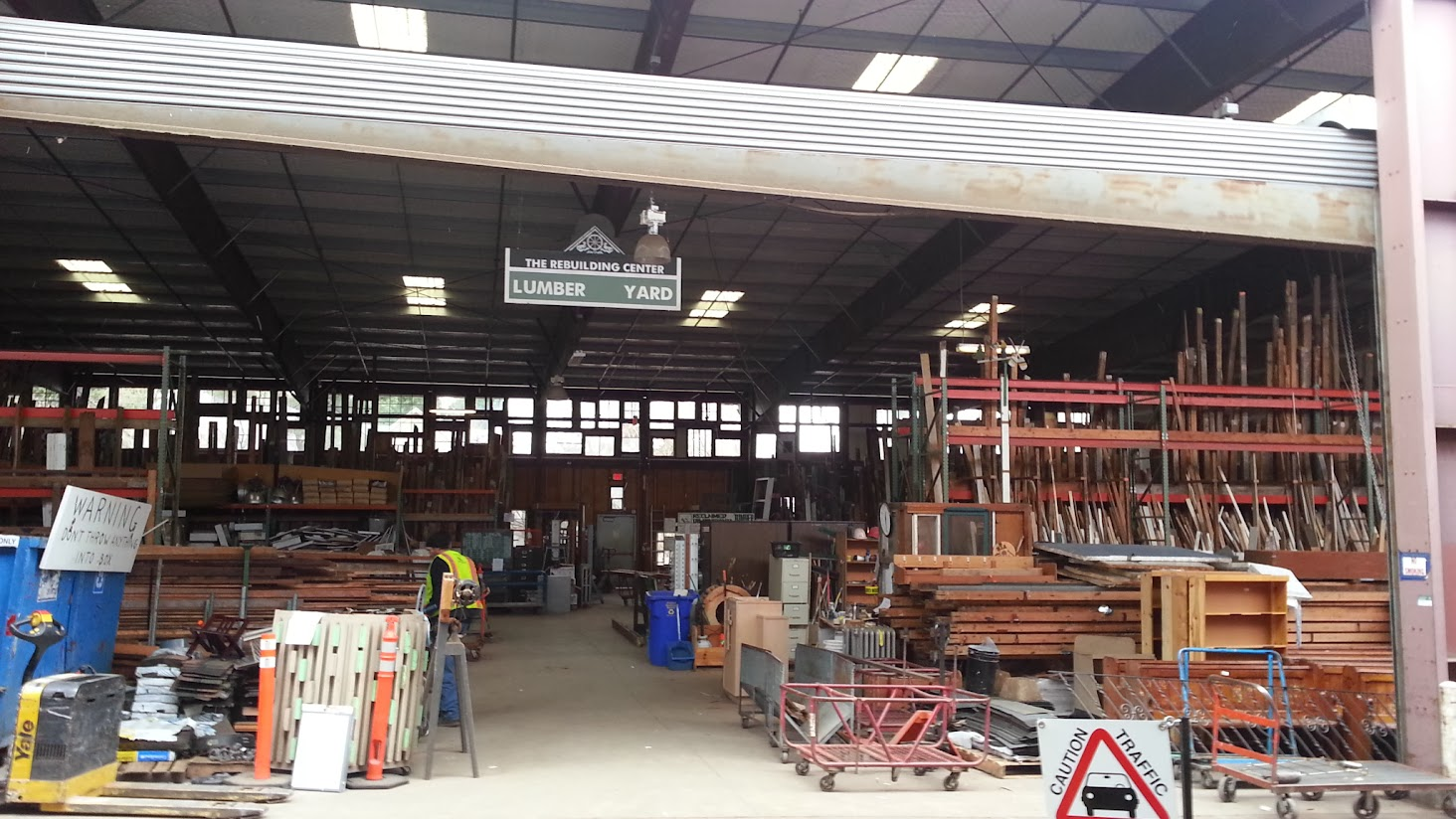 The Rebuilding Center's lumber yard