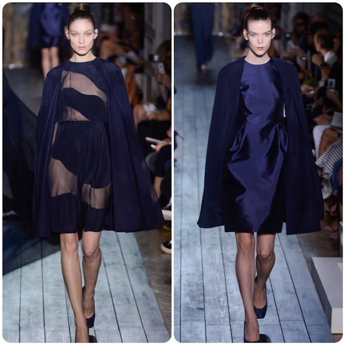 Valentino Couture Runway cape dresses