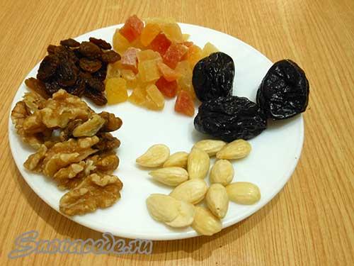 сухофрукты для конфет