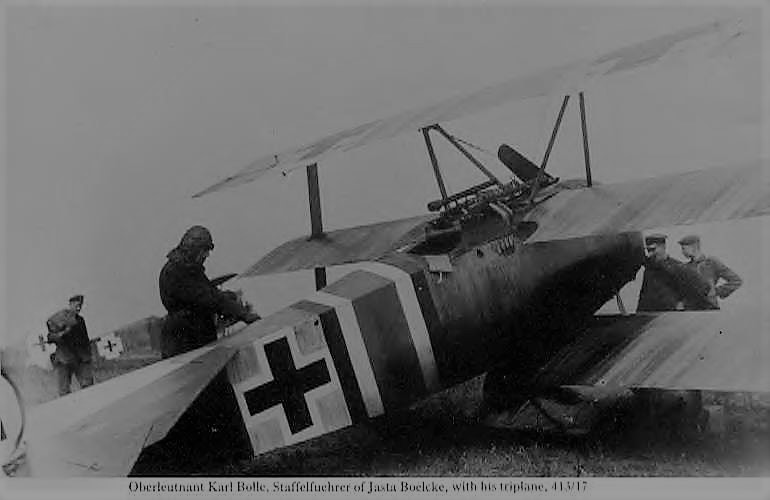 Fokker Dr1 413-17 With Karl Bolle getting ready for flight of Jasta 2 Boelcke..jpg