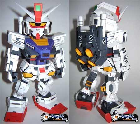 SD RX 78 2 Evolve Gundam Papercraft