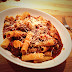 Pork cheek ragu with Parmesan and rigatoni