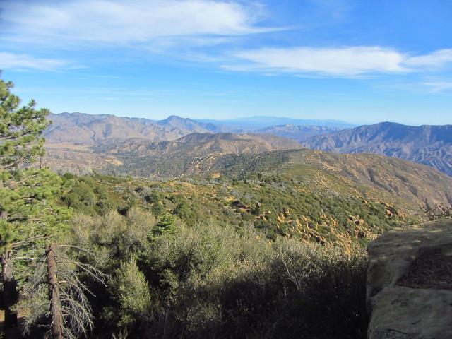rocky and brushy south facing slopes visible