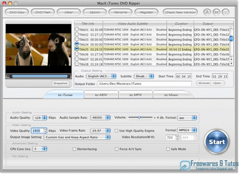 foxtab video to mp3 sur 01net