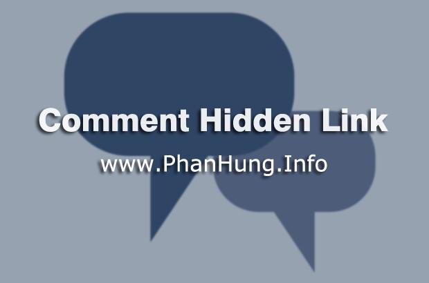 Cách ẩn link liên kết trong comment cho Blogspot