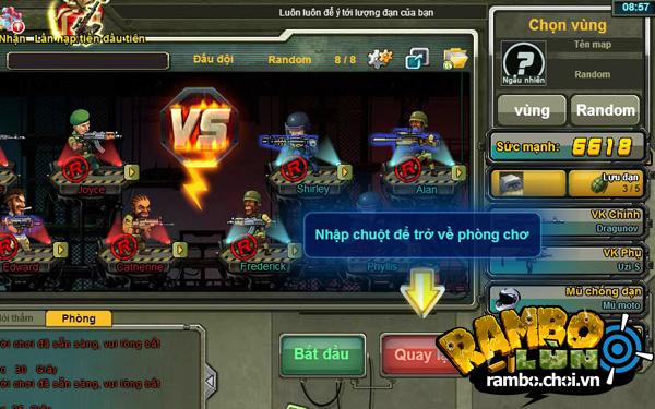 VGG hé lộ ảnh Việt hóa của Rambo Lùn Online 3