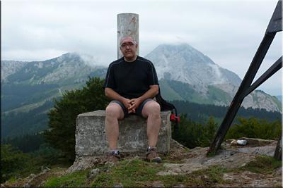 Tellamendi mendiaren gailurra 835 m.  --  2014ko abuztuaren 1ean