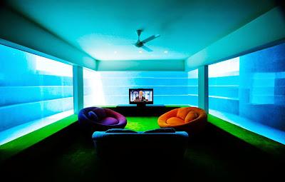 Casa de luxo com vista para o mar e com sala subaquática na Singapura