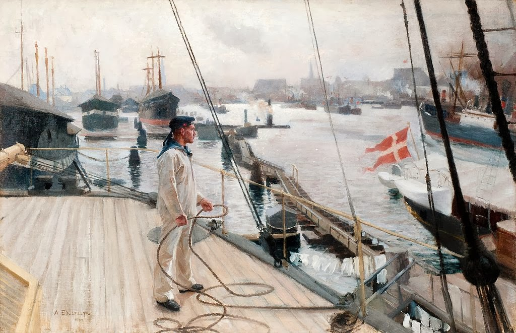 Albert Edelfelt - From the port of Copenhagen I