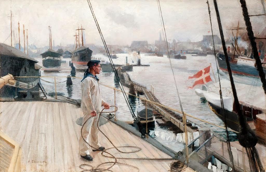 Albert Edelfelt - From the port of Copenhagen I