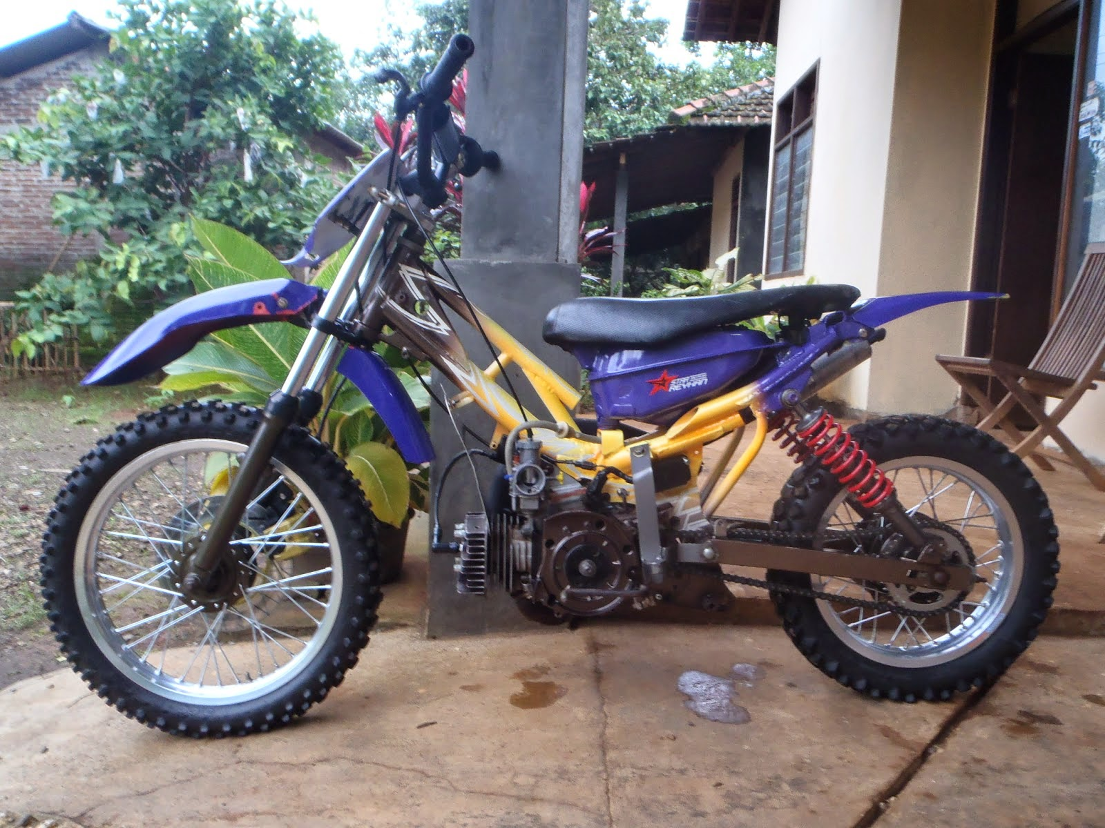 87 Modifikasi Motor Trail Honda Blade Terupdate Oneng Motomania