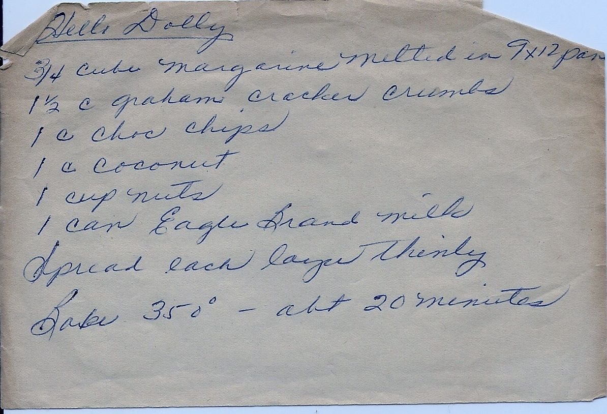 ... Eat!: Hello Dolly! Chocolate Chip Seven Layer Kitchen Sink Bar Cookies
