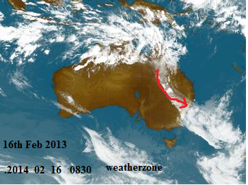 16th feb 2014 sat pic Australia