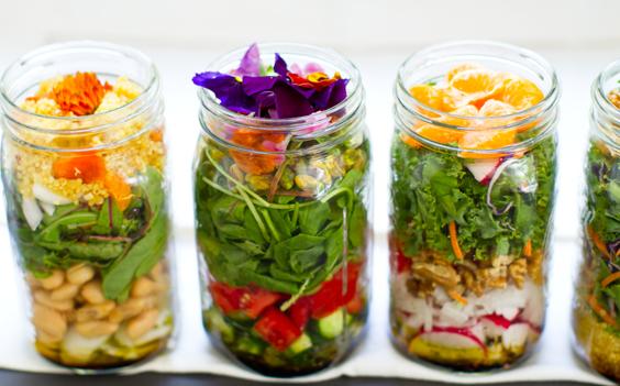 salad in a jar mason vegan%25203 Need A Fun, Healthy Lunch On The Go?