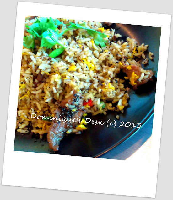 Black pepper beef fried rice