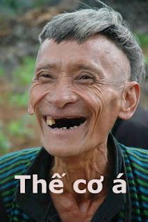 Comment facebook: Thế cơ à. Ông gài rụng răng