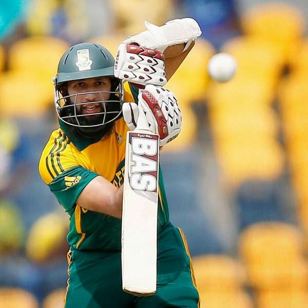 South Africa's Hashim Amla plays a shot during their final One Day International cricket match against Sri Lanka in Hambantota July 12, 2014.
