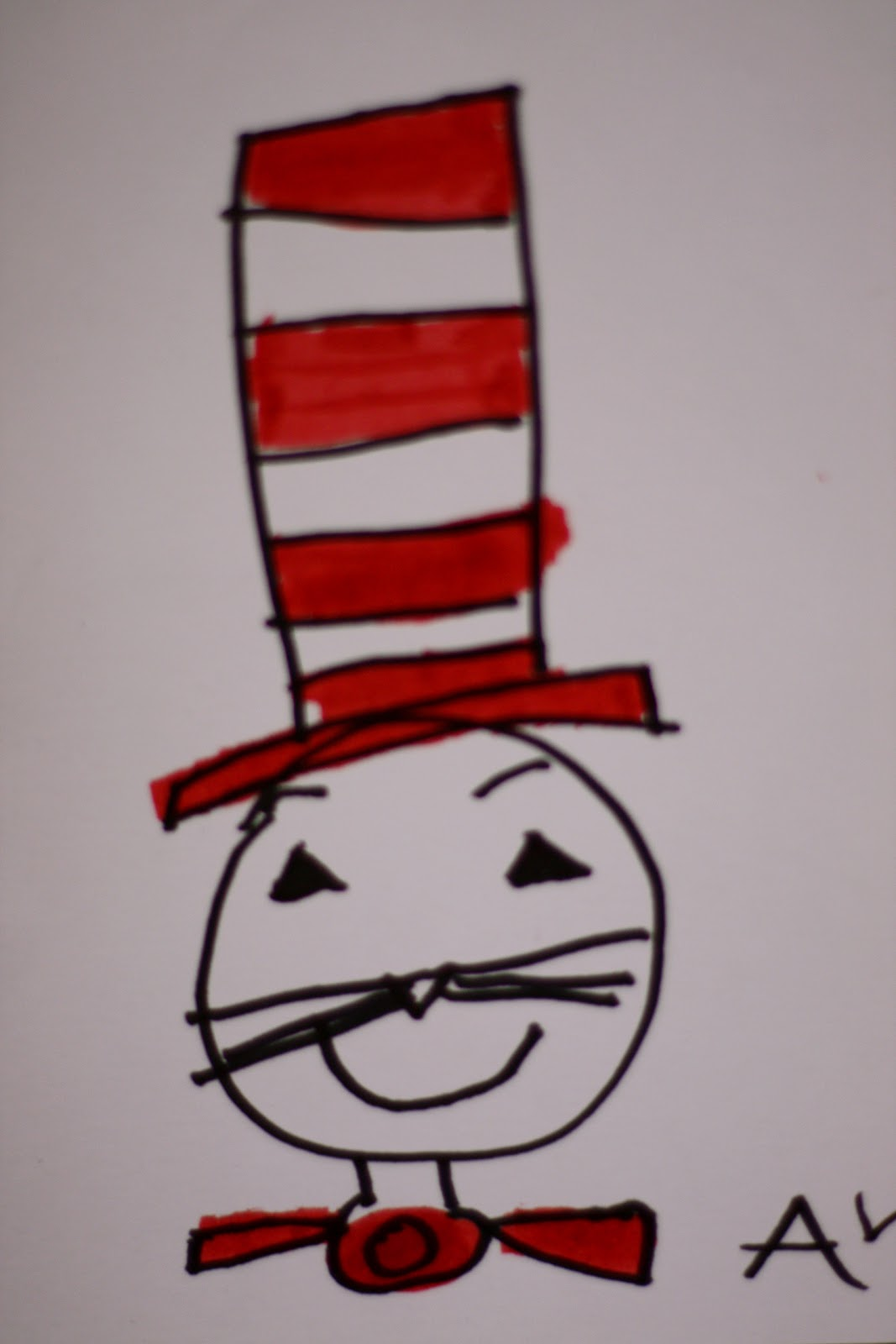 It's just a photo of Insane Drawing Cat In The Hat
