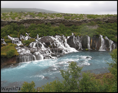 Un tour  d'Islande, au pays du feu... et des eaux. 7-Hraunfossar