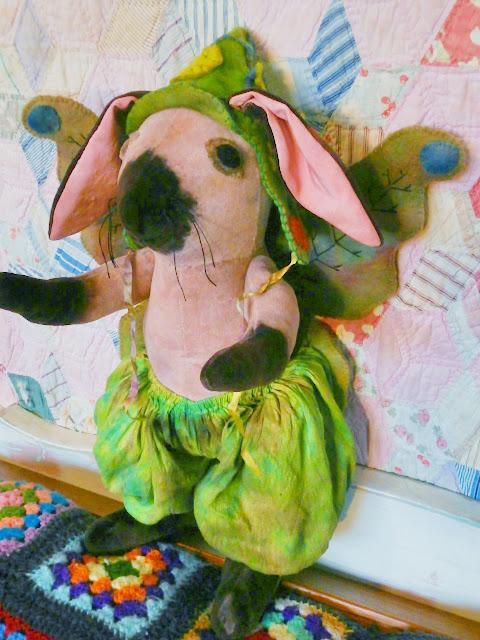 "Florence Pumpkin-tale, The Ultimate 23"" tall Bunny Fairy, Custom order"