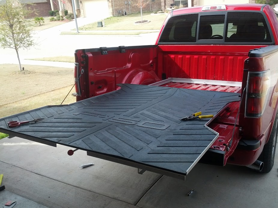 Truck bed slide out diy crafts - Homemade truck bed storage ...