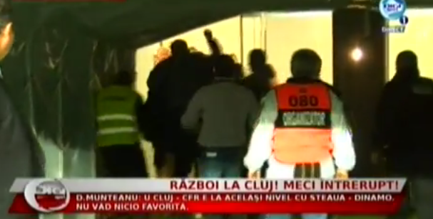The Cluj derby is suspended amid red cards, fighting & CFR Cluj walk off