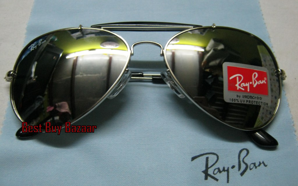 Ray Ban Outdoorsman Sunglasses: RB silver mercury mirror