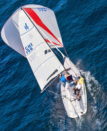 J/70 sailing Chile's Lake Panguapulli- Andes Mountains
