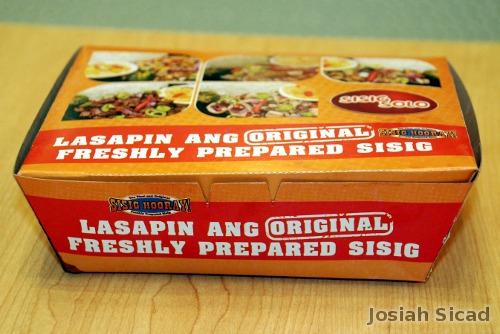 Sisig Hooray! Packaging