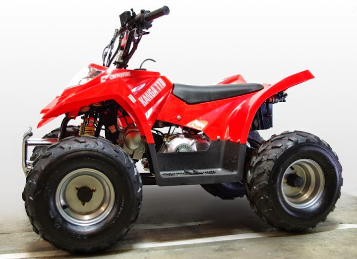 110cc Kids 4 stroke petrol powered Junior Mini Quad bike atv Red twin headlight