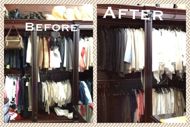 Charmant Master Closet. New Velvet Hangers ...