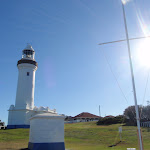 Lighthouse and signal flag pole (194840)