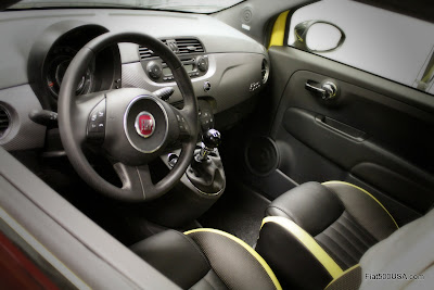 Fiat 500 Stinger interior