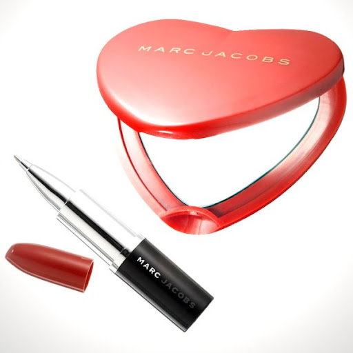 Marc by Marc Jacobs Red Heart Compact and Lipstick Pen