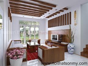 Mẫu thiết kế nội thất phòng khách 317