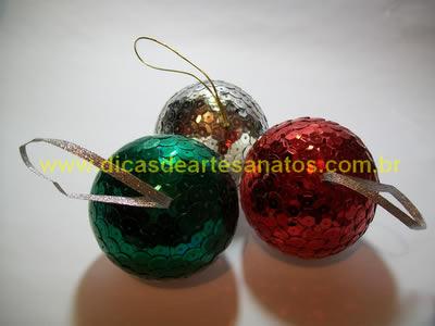 Bolinha personalizada para decorar a árvore de natal
