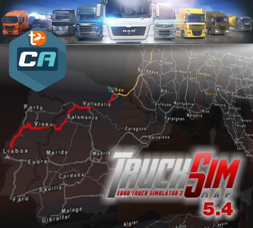 Truck Sim Map 5.4