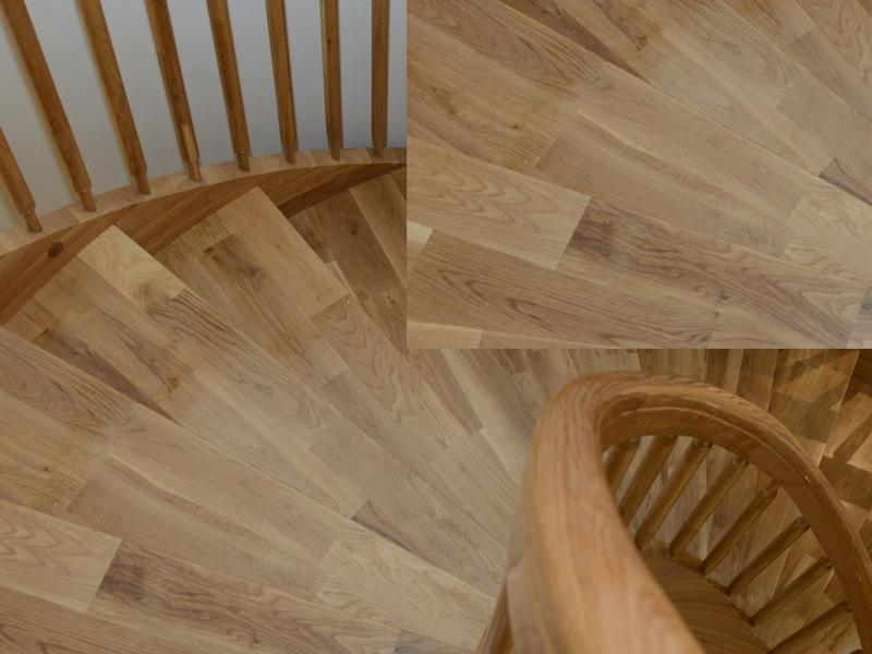 gỗ ghép làm mặt bậc cầu thang