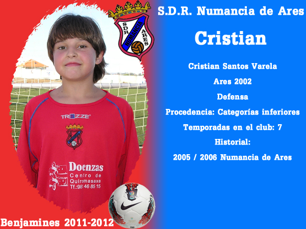 ADR Numancia de Ares. Benxamíns 2011-2012. CRISTIAN.