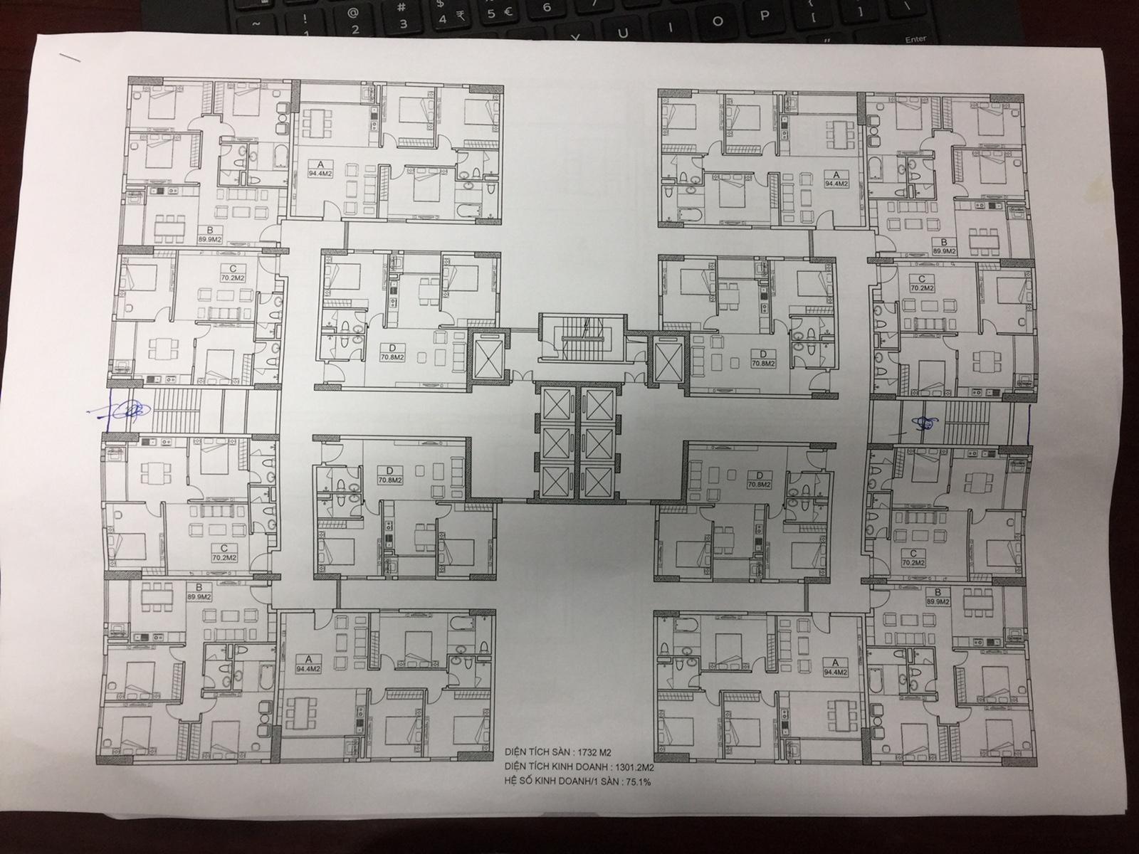 Mặt bằng thiết kế chung cư Dream Land Plaza