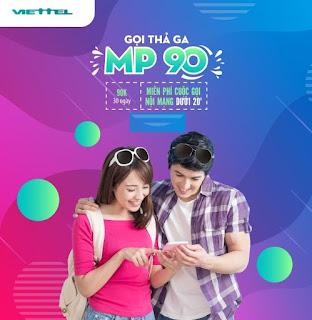 Miễn phí gọi Nội mạng Gói MP90 Viettel