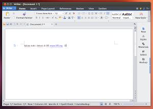 Kingsoft Office Writer in Ubuntu 13.04 Raring