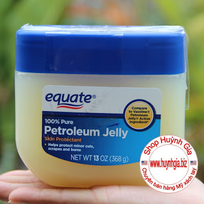 Sáp Dưỡng Ẩm Da Equate 100% Pure Petroleum Jelly Hàng Xách Tay Từ Mỹ www.huynhgia.biz