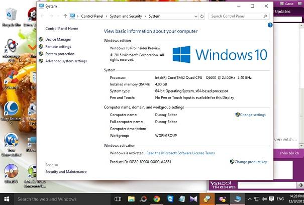Hướng dẫn chuyển từ Windows 10 32-bit được update từ win 7 32-bít, win 8.1  32-bít lên phiên bản windows 10 64-bit không mất bản quyền