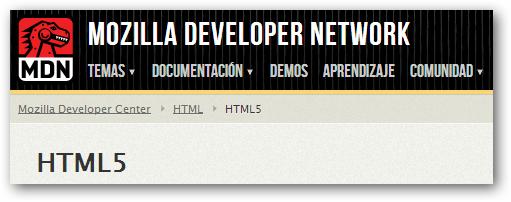Guía de HTML5 por parte de Mozilla