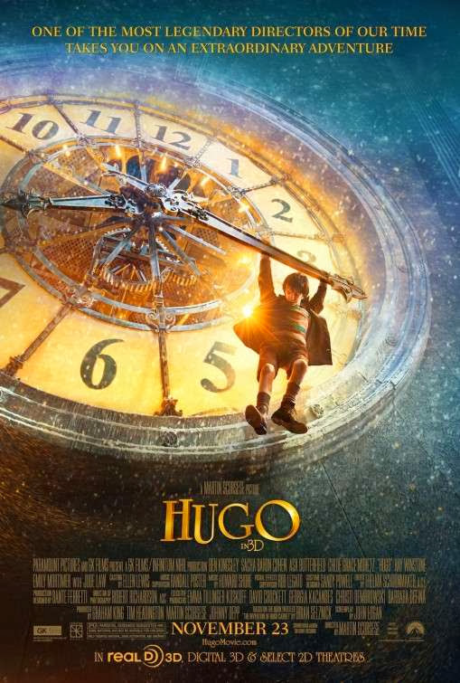 Poster Of Hugo (2011) Full Movie Hindi Dubbed Free Download Watch Online At Alldownloads4u.Com