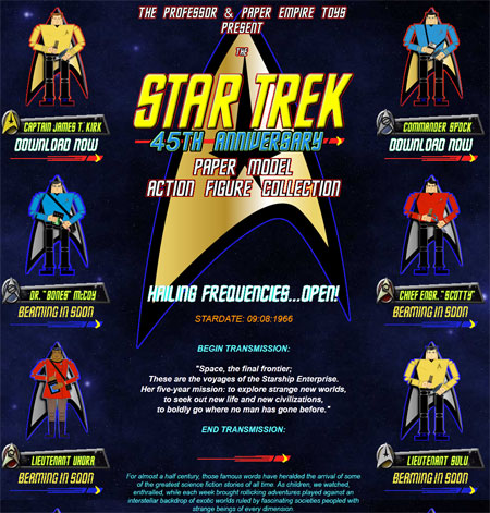 Star Trek TOS Action Figure Papercrafts